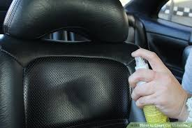cleaning black leather car seats