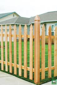 Complete The Look Of Your Landscaping With 4 X 8 French Gothic Picket Fence Panels Made With Cedar Pickets An Picket Fence Panels Picket Fence Fence Panels