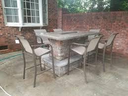 outdoor bar fire pit stone veneer