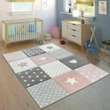 Kids Rug Girls Bedroom Hearts Stars New Thick Soft Children Play Room Carpet Mat Ebay