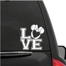 5in Disney Minnie Mouse Head Layered Vinyl Decal Red Bow 2 99 Picclick