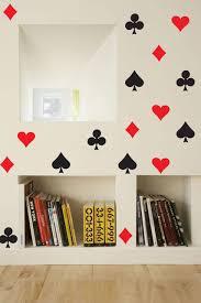 20pcs Modern Fashion Playing Card Pattern Wall Decal Poker Vinyl Wall Stickers Club Spades Hearts Diamond Design Decor Syy947 Decoration Design Decoration Patternvinyl Wall Stickers Aliexpress
