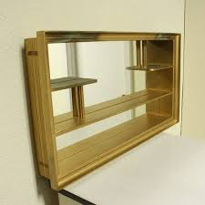 mirrored shelves wall hanging