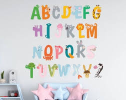 Abc Decal Etsy