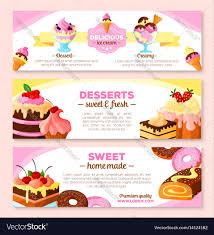 homemade bakery desserts vector image