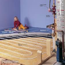 hydronic radiant floor heating works