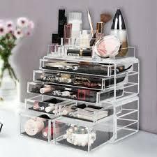 acrylic makeup organizer case drawers