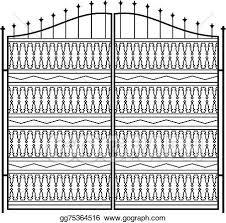 Eps Vector Wrought Iron Gate Door Fence Window Grill Railing Design Stock Clipart Illustration Gg75364516 Gograph