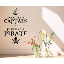 Shop Skull And Sword Play Like A Pirate Wall Art Sticker Decal Overstock 11604076