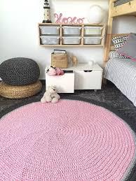 Large Crochet Round Rug Nursery Decor Kids Rug Baby By Loopinghome Area Room Rugs Round Rug Nursery Girls Room Area Rug