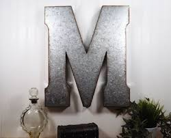 30 large metal letter 20 inch