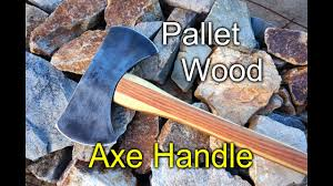 axe handle with pallet wood you