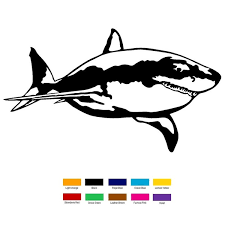 Buy 3 Free 1 New 20cm X 10cm Great White Shark Car Sticker For Truck Window Bumper Auto Suv Door Laptop Kayak Vinyl Decal Xin 426 Wish