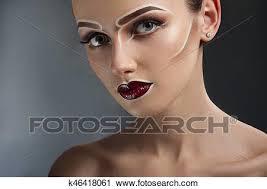 creative pop art makeup stock image