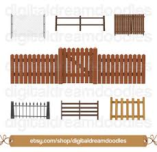 Fence Clipart Gate Clip Art Picket Fence Image Gate Door Etsy In 2020 Picket Fence Clip Art House Clipart