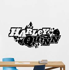 Amazon Com Harley Quinn Logo Wall Decal Emblem Marvel Joker Comics Superhero Vinyl Sticker Wall Decor Cool Wall Art Kids Teen Girl Room Wall Design Modern Bedroom Wall Decor Mural 160rt Home