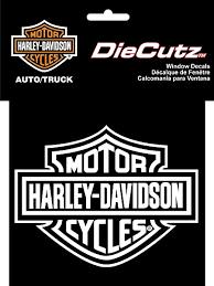 Amazon Com Harley Davidson Logo Cutz Rear Window Decal Harley Davidson Automotive
