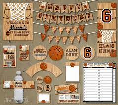 Basketball Birthday Party Decoracion De Cumpleanos Fiesta De
