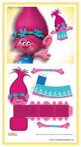 Dreamworks Trolls Free Paper Toy Poppy Cumpleanos Trolls