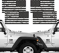 Die Cut Matte Black American Flag Sticker 3 X 5 Tactical Military Flag Usa Decal Great