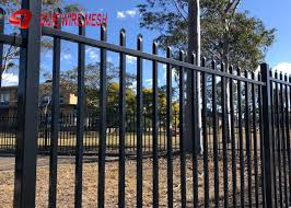 Ornamental Galvanized Steel Spear Top Fencing Panels Security For Garden And Stairs