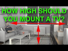 how high should i mount my tv you