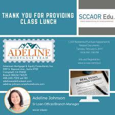 Thank you to our class sponsor Adeline... - Santa Clara County ...