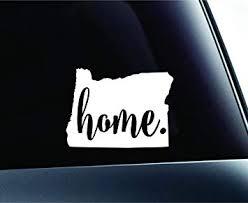 Amazon Com 3 Home Oregon State Salem Symbol Sticker Decal Car Truck Window Computer Laptop White Automotive