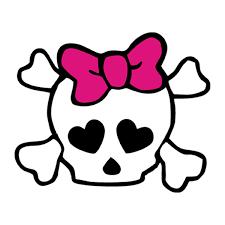 Skeleton Skull With Pink Bow Car Window Door Bumper Laptop Vinyl Decal Sticker Ebay