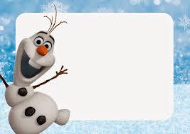 Olaf Invitaciones Para Imprimir Gratis Ideas Y Material Gratis