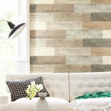 Roommates 4 In X 16 74 In 16 Piece Multi Color Distressed Barn Wood Plank Peel And Stick Wall Decals Rmk3695gm The Home Depot