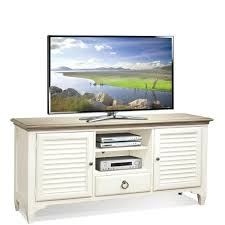 "Myra White 64"" Louver TV Console by Riverside Furniture ..."