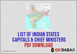 list of indian states capitals and