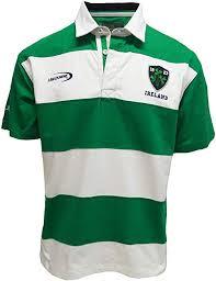 white ireland stripe short sleeve