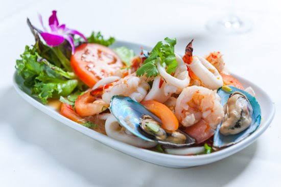 Image result for Thai Seafood Salad mussels""