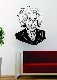 Albert Einstein Science Scientist Decal Sticker Wall Vinyl Art Home Ro Boop Decals