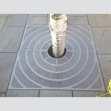 cast iron grate stainless steel tree