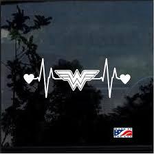 Wonder Woman Heartbeat Window Decal Sticker Custom Sticker Shop