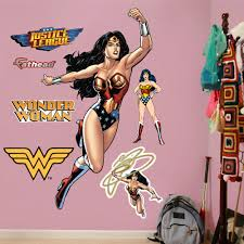 Fathead Wonder Woman In Action Fathead Realbig Wall Decal Wayfair