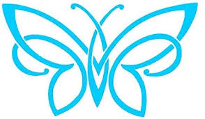 Amazon Com Unique Butterfly Pick Color Vinyl Transfer Sticker Decal For Laptop Car Truck Window Bumper 4 X 2 3 Sky Blue Arts Crafts Sewing