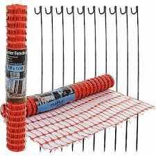 50m Plastic Mesh Barrier Safety Fence Roll Netting Garden Mesh Fence Net Panel Ebay