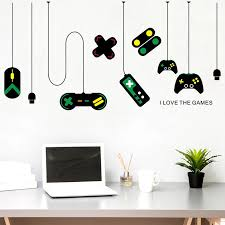 2pc Creative Video Game Sticker Vinyl Wall Decals For Kids Room Nursery Boys Gamer Room Decor Art Mural Play Decal Gaming Poster Wall Stickers Aliexpress