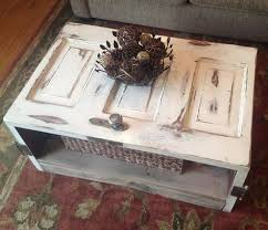 coffee table made with an antique door