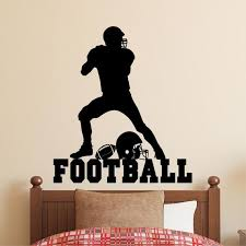 Sports Wall Decal Football Player Silhouette Vinyl Wall Etsy