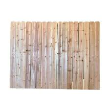 Actual 6 Ft X 8 Ft Natural Cedar Cedar Spaced Picket Dog Ear Wood Fence Panel 1000 In 2020 Wood Fence Fence Panels Dog Ear Fence