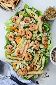 Asian Shrimp Salad with Crispy Wontons ...