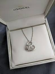 h samuel sterling silver heart infinity