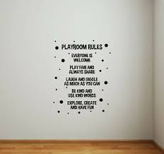 Playroom Rules Sign Wall Decal Kids Room Children Quote Door Vinyl Sticker 830 Ebay