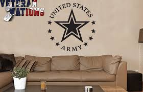 Us Military Wall Vinyl Decal Veterans Nation