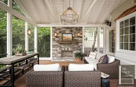back porch with fireplace ideas images
